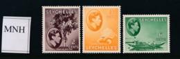 SEYCHELLES, 1938 2c, 3c, 6c MNH - Seychellen (...-1976)