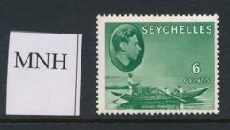 SEYCHELLES, 1938 6c Green (ordinary Paper) MNH - Seychellen (...-1976)