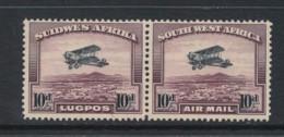 SOUTH WEST AFRICA, 1931 10d Airmail  Se-tenant Pair Superb Light MM, Cat £55 - Africa Del Sud-Ovest (1923-1990)