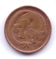 AUSTRALIA 1989: 1 Cent, KM 78 - Monnaie Décimale (1966-...)