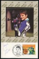 ALEKSANDRA IVOŠEV, Gold Medal, Olympics Atlanta - Yugoslavia, 1996. - Photo Postcard With Original Autograph (LEMI2-11) - Waffenschiessen