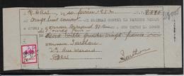 Fictif Surchargé Manuscrit 7,20 S/0,50 Sur Billet à Ordre - 1952 - TB - Finti