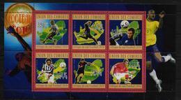 COMORES  Feuillet  N° 2059/64 * *  ( Cote 15e )  Cup 2010  Football Soccer Fussball - Fußball-Weltmeisterschaft