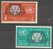 Yemen (YAR)  - 1963 Human Rights MNH **  SG 245-6 - Yemen