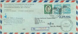 84319 -  VENEZUELA - POSTAL HISTORY - Registered  AIRMAIL COVER To MEXICO 1960 O.S.P. Zona 1 - Venezuela
