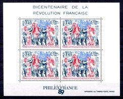 RC 17577 TAAF COTE 12,50€ BF N° 1 BICENTENAIRE DE LA REVOLUTION BLOC FEUILLET NEUF ** MNH TB - Blocs-feuillets