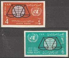 Yemen (YAR)  - 1963 Human Rights Imperf MNH **  SG 245-6 - Yemen
