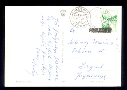YUGOSLAVIA - Ships Mail, Motor Ship Rijeka. Postcard Handed On Cyprus - Limassol 1966. - 1945-1992 Sozialistische Föderative Republik Jugoslawien