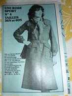 Patron N° 4 Robe Sport  (années 1970) Revue Femmes D'Aujourd'hui - Patterns