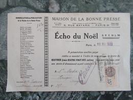 Paris  Echo Du Noel  Maison De La Bonne Presse 1930 - Imprimerie & Papeterie