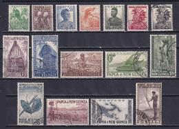 PAPUA NEW GUINEA 1952, SG# 1-15, CV £29, Animals, Architecture, Used - Papúa Nueva Guinea