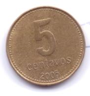 ARGENTINA 2005: 5 Centavos, KM 109 - Argentine