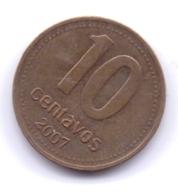 ARGENTINA 2007: 10 Centavos, KM 107a - Argentine