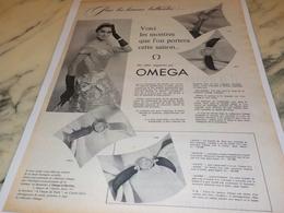 ANCIENNE PUBLICITE POUR LES HEURES BRILLANTES MONTRE  OMEGA 1956 - Other