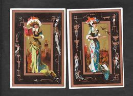 Chromo ANONIME 2 Soggetti Donna 8x11,3 OTTIMO STATO - Trade Cards