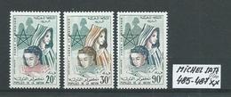 MAROKKO MICHEL SATZ 485 - 487 Postfrisch Siehe Scan - Marokko (1956-...)