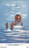 Illustrateur - N°61888 - Gilson - Zut Aux Sous-marins - Enfant Noir Se Baignant Dans L'eau - Illustrators & Photographers