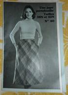Patron N° 40 Jupe Portefeuille (années 1970) Revue Femmes D'Aujourd'hui - Patterns