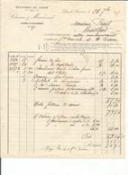 Facture De M Charue G Lons Le Saunier A M Prost Arinthod 1915 - France