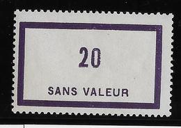 France Fictif N°101 - Neuf * Avec Charnière - TB - Finti