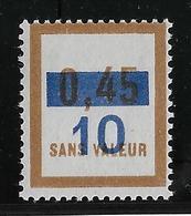 France Fictif N°65 - Neuf * Avec Charnière - TB - Fictifs