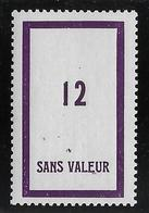 France Fictif N°108 - Neuf * Avec Charnière - TB - Fictifs