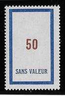 France Fictif N°113 - Neuf * Avec Charnière - TB - Finti