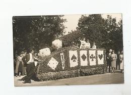 CARTE POSTALE PHOTO ANCIENNE NON SITUEE CARNAVAL CHAR (CARTES A JOUER ET ANIMATION) - Da Identificare