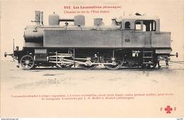 Trains - N°67350 - Les Locomotives (Allemagne) - Chemin De Fer De L'Etat Badois - Treinen