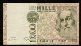 """Italië / 1000 Lire / MILLE LIRE : 1982 / """"Marco Polo"""" / Numéro : CF 752536 P / 2 Scans - 1000 Lire"""