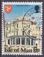 Timbre Oblitéré N° 100(Yvert) Ile De Man 1978 - Immeuble Du Gouvernement - Man (Insel)