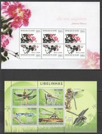 Z409 2008,2011 S. TOME E PRINCIPE REPUBLIQUE DE GUINEE FAUNA INSECTS LIBELINHAS PLANTS FLOWERS ROSE 2KB MNH - Insects