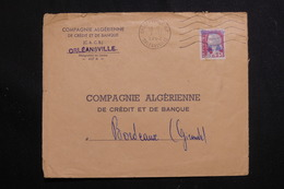 ALGÉRIE - Enveloppe Commerciale De Orléansville Pour Bordeaux En 1962, Affranchissement Decaris Surchargé EA - L 61251 - Algerien (1962-...)