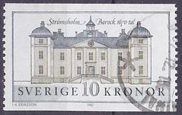 Timbre Oblitéré N° 1666(Yvert) Suède 1991 - Château Baroque De Strömsholm - Oblitérés