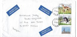 Pologne: 4017/ 4018 Sur Lettre (chiens) - 1944-.... Republic