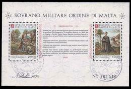 S.M.O.M. (Sovrano Ordine Di Malta) - Foglietto FDC - Natale 1979 - Malte (Ordre De)