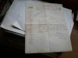 Budapest Ditmar R Lampa Erczmu Villamos Es Legszesz Cillar Gyaranak Foraktara Budapest 1907 - Invoices & Commercial Documents