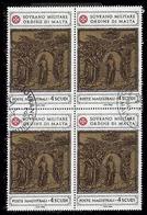 S.M.O.M. (Sovrano Ordine Di Malta) - Formelle Del Battistero Della Chiesa Di S. G.Battista Di Siena - 4 Scudi - 1980 - Malte (Ordre De)