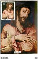 TIMBRES.CARTE MAX.n°9316.GABON.1968.MORALES.CHRIST AUX LIENS - Gabun (1960-...)