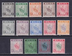 MALAYA NEGRI SEMBILAN 1935, SG# 21-38, CV £49, Part Set, Coats Of Arms, MH - Negri Sembilan