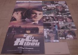 AFFICHE CINEMA ORIGINALE FILM LE CRI DU HIBOU + 12 PHOTOS EXPLOITATION CHABROL MALAVOY MAY 1987 - Affiches & Posters