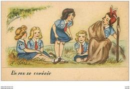 SCOUTISME.n°26053.UN PEU DE COMEDIE.ILLUSTRATION J IDRAC - Scoutisme
