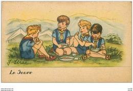 SCOUTISME.n°26052.LA SOUPE.ILLUSTRATION J IDRAC - Scoutisme