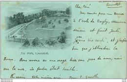 RUGBY.n°3344.THE PARK,LOWESTOFT.LIRE CP.PLIE ET TACHES - Rugby