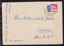 SCHWEINFURT-BAD KISSINGEN BAHNPOST A ZUG 1984 20.11.50 Auf Brief - Stamps