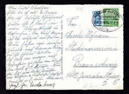 MÜNCHEN-KUFSTEIN BAHNPOST B ZUG 01874 17.8.55 Auf AK (Oberaudorf) - Stamps