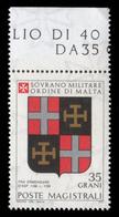 S.M.O.M. (Sovrano Ordine Di Malta) - Stemmi Dei Gran Maestri Di Rodi 1171/1192 - 35 Grani / E. D'Asp - 1979 - Malte (Ordre De)