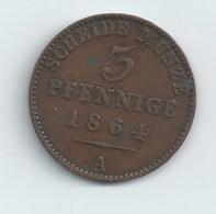 PRINCIPAUTE DE REUSS 3 PFENNIGS 1864 - [ 1] …-1871: Altdeutschland