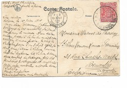 SH 0518. CP Datée Du LAC MOËRO/ LUKAFU/Haut LUAPULA 16 JUIN 1908 Affranchier TP 1d BRITISH SOUTH AFRICA COMPANY Vers B - Belgian Congo