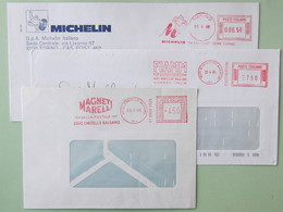 Affrancatura Meccanica, Trasporti, Accessori (Michelin, FIAMM, Magneti Marelli), Ema, Meter, Freistempel - Affrancature Meccaniche Rosse (EMA)